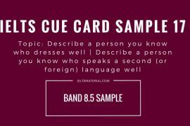 IELTS Cue Card Sample 18 - Topic: A Person Speak A Second (Foreign) Language Well