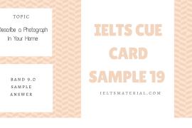 IELTS Cue Card Sample 19 by IELTSMATERIAL