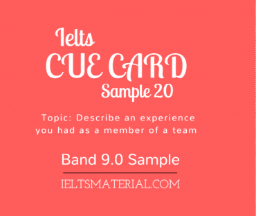 IELTS Cue Card Sample 20 By IELTS Material