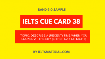 IELTS Cue Card Sample 38 By IELTS Material