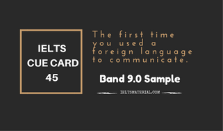 IELTS Cue Card Sample 45 by IELTSMATERIAL