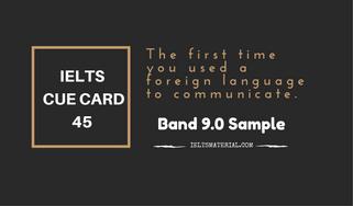 IELTS Cue Card Sample 45 by IELTSMATERIAL