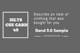 IELTS Cue Card Sample 49 by IELTSMATERIAL
