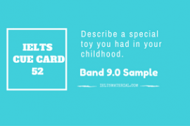 IELTS Cue Card Sample 52 By IELTS Material
