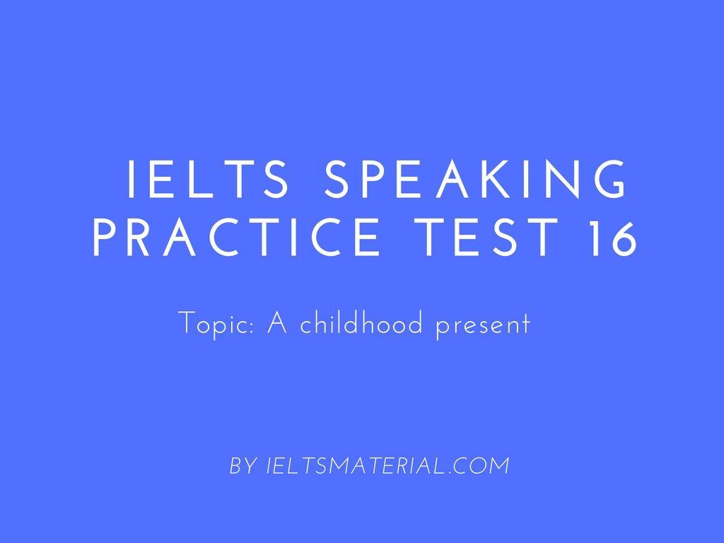 the speaking test of ielts pdf
