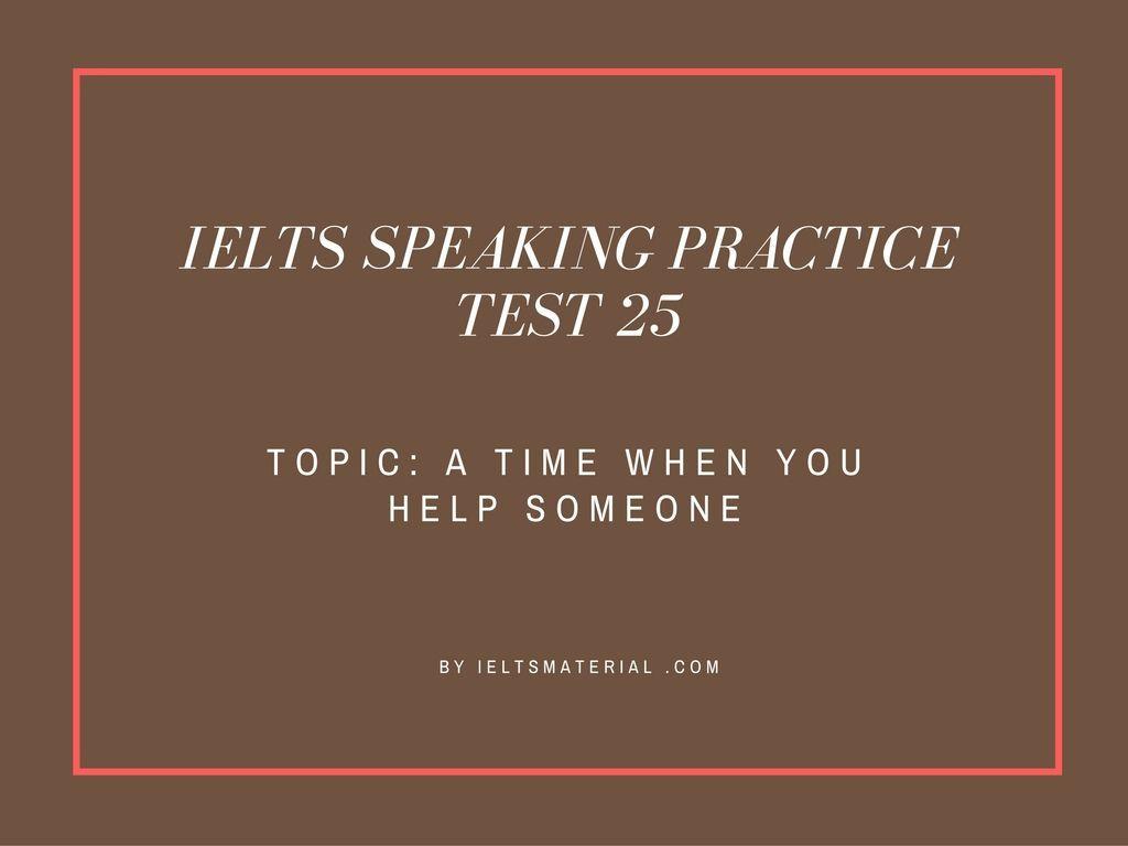 IELTS Speaking Sample #10