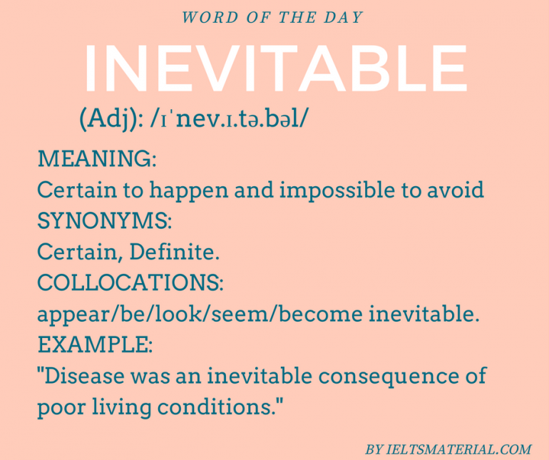 INEVITABLE - word of the day by ieltsmaterial.com