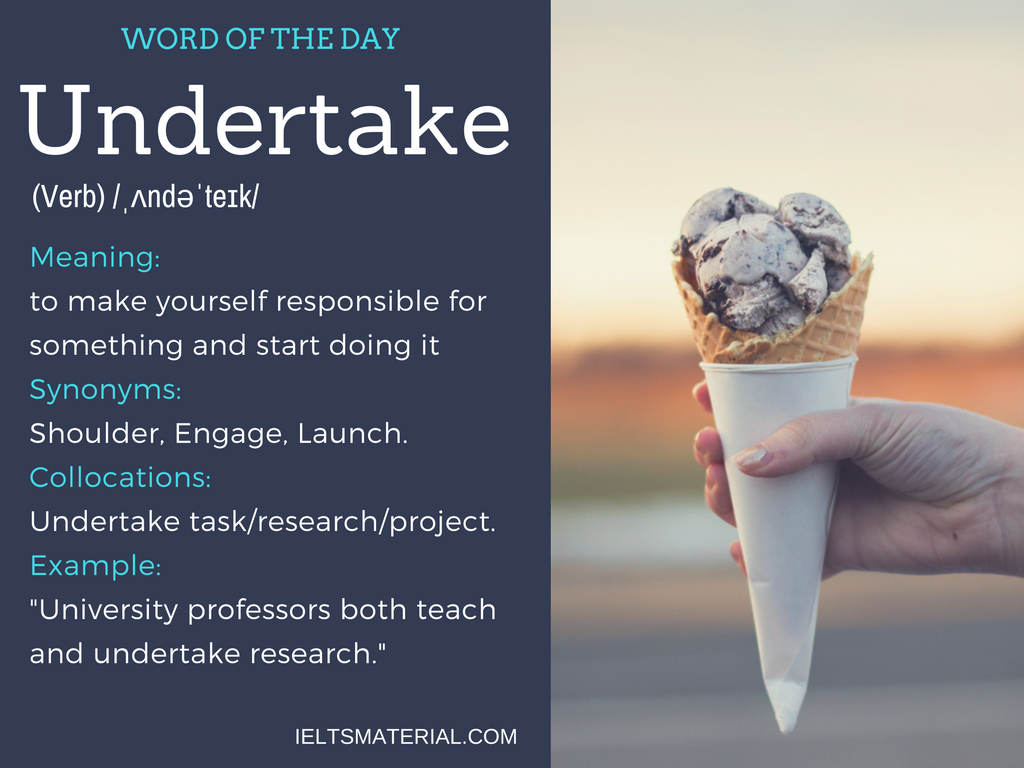 word of the day by ieltsmaterial - undertake