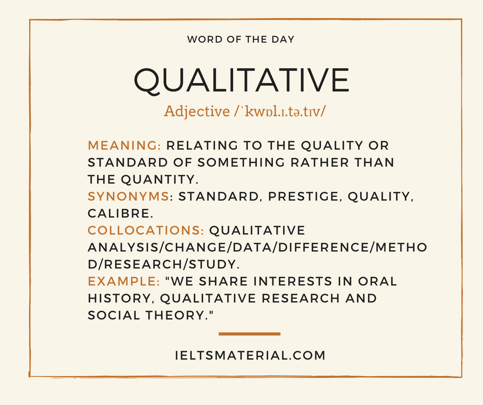 Qualitative – Word Of The Day