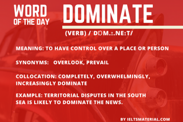 ieltsmaterial.com - word of the day dominate