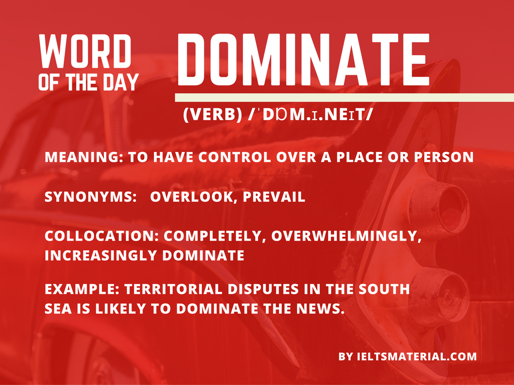 Word of the Day – Dominate