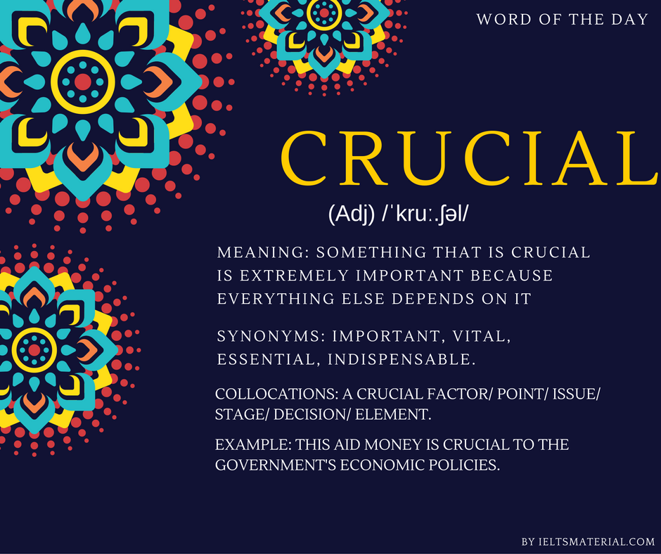Crucial – Word of the Day for IELTS Speaking And Writing