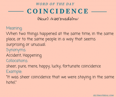 word of the day by ieltsmaterial - coincidence