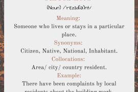 word of the day by ieltsmaterial - resident