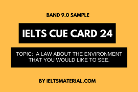 IELTS Cue Card Sample 24 by IELTSMATERIAL
