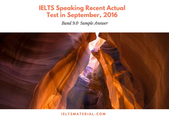 IELTS-Speaking-Recent-Actual-Test-in-September-2016