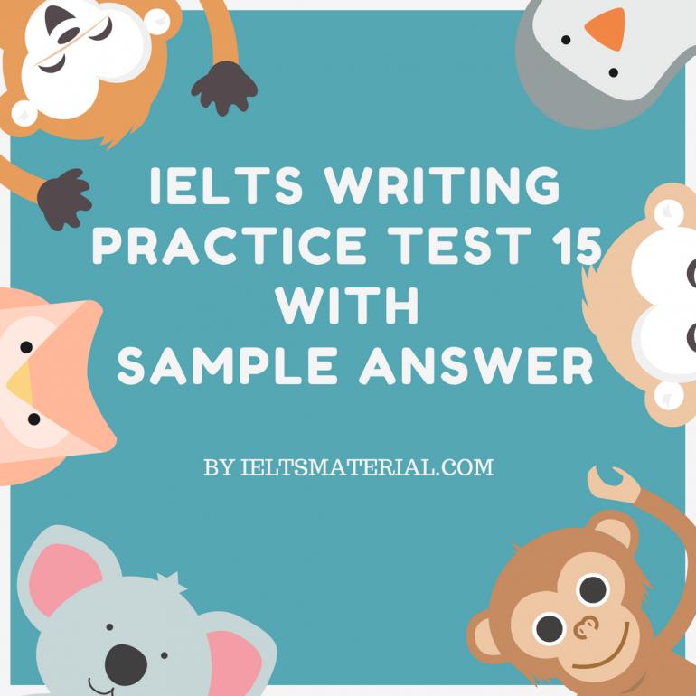 ielts writing sample answers pdf