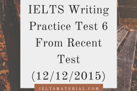 IELTS Writing Practice Test 6 From Recent Test