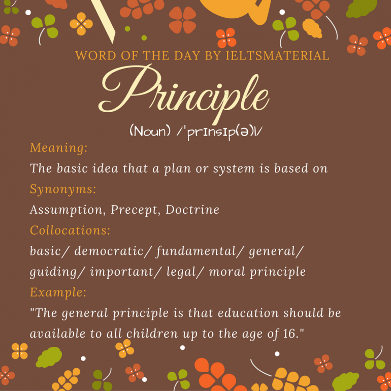 word of the day by ielsmaterial.com - principle