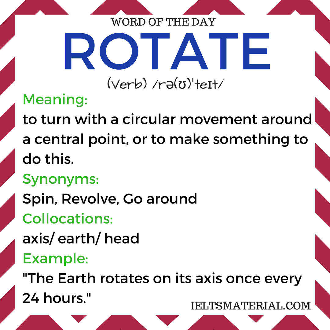 Rotate – Word Of The Day For IELTS