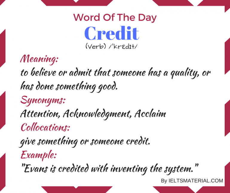 word of the day by ieltsmaterial - credit