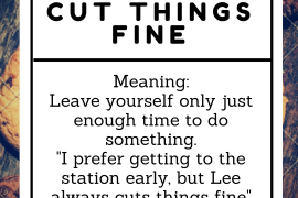 idiom of the day by ieltsmaterial - cut things fine