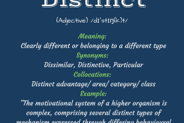 word of the day by ieltsmaterial - distinct
