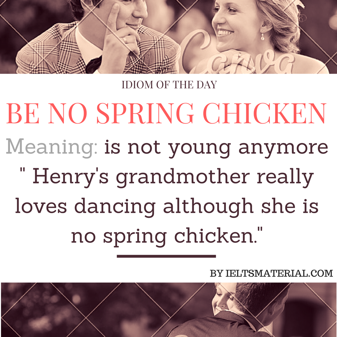 Be No Spring Chicken –  Idiom Of The Day For IELTS