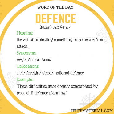 word-of-the-day-by-ieltsmaterial- DEFENCE