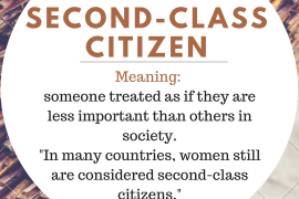 idiom of the day by ieltsmaterial.com - second-class citizen