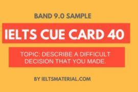 IELTS Cue Card Sample