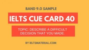 IELTS Cue Card Sample