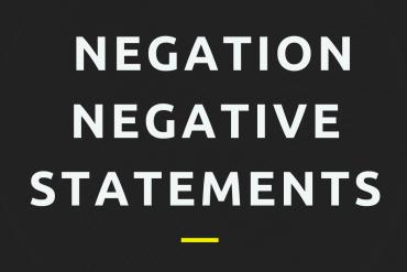 grammar for ielts negative statements