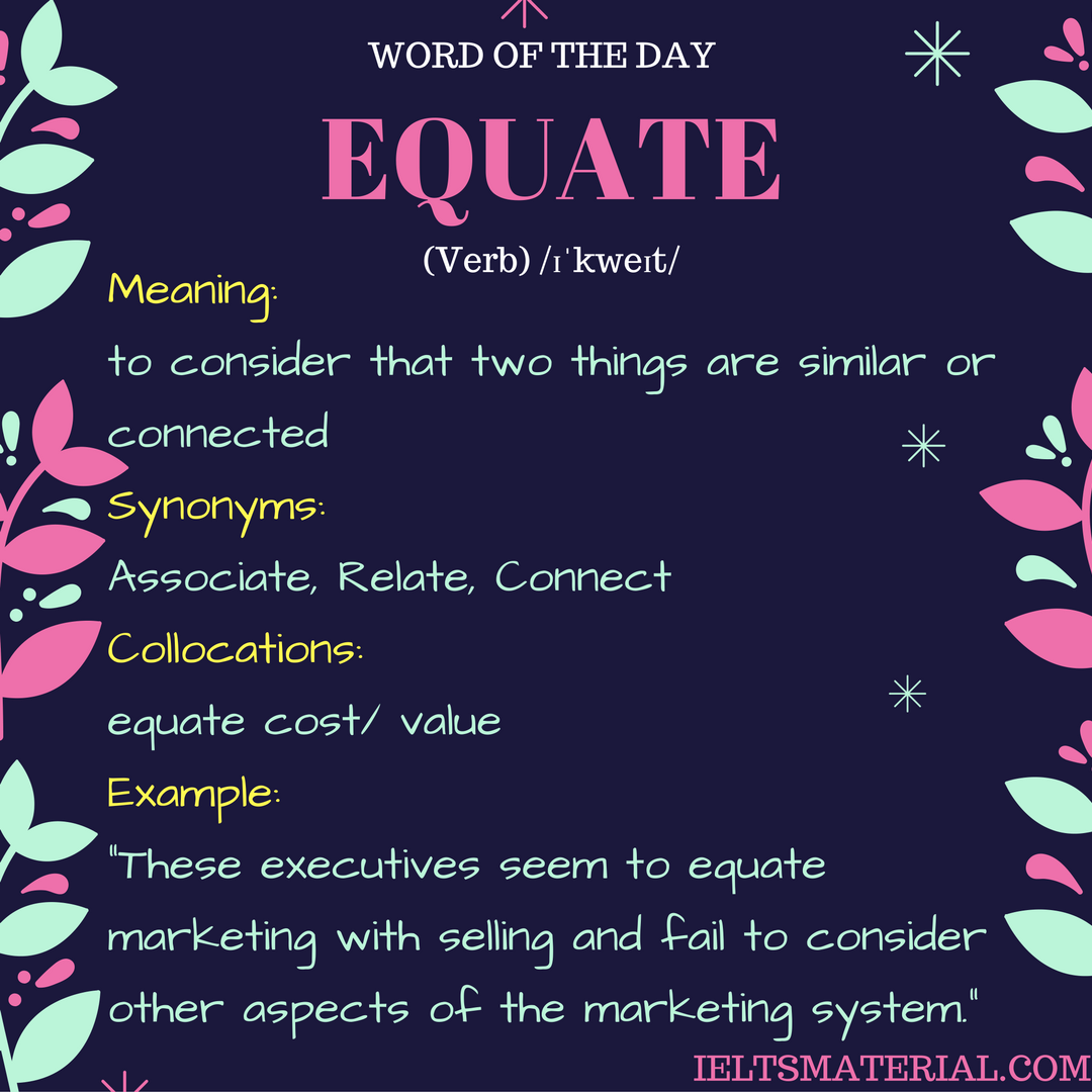 word of the day by ieltsmaterial EQUATE