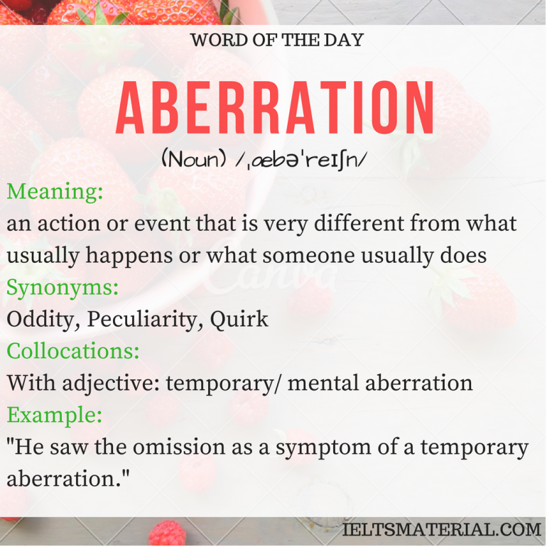 word of the day - aberration