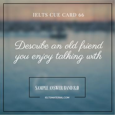 IELTS Cue Card 66 - Sample by IELTSMaterial.com