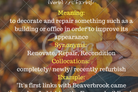 word of the day - refurbish