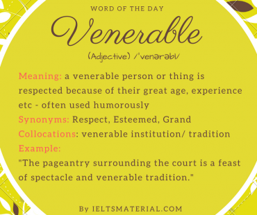 word of the day - venerable