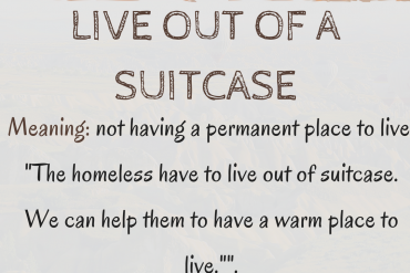 live out of a suitcase