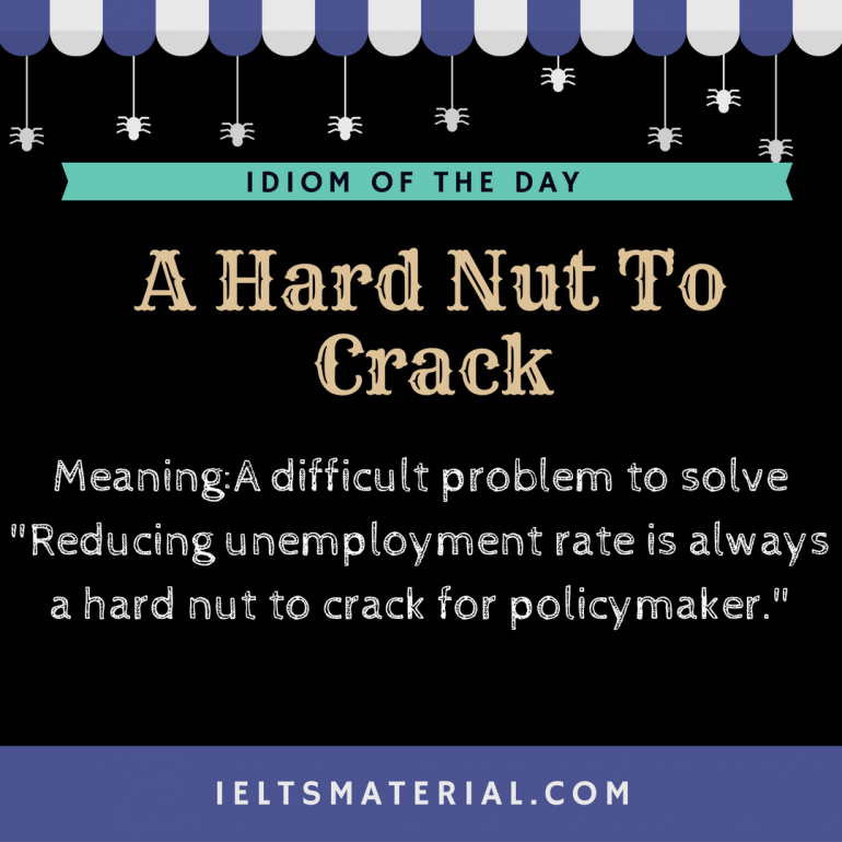 idiom of the day - a hard nut to crack
