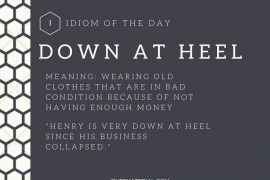 Copy of idiom of the day