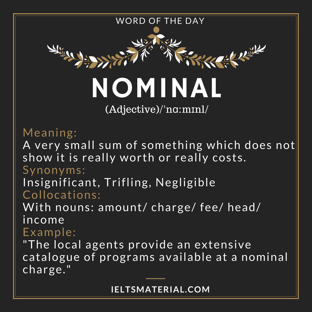 Nominal – Word Of The Day For IELTS