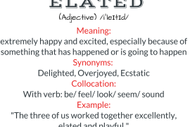 word of the day - elated
