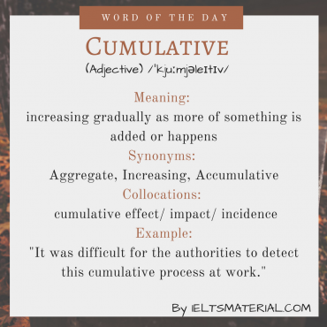 word of the day - cumulative