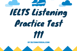 IELTS Listening Practice Test 111