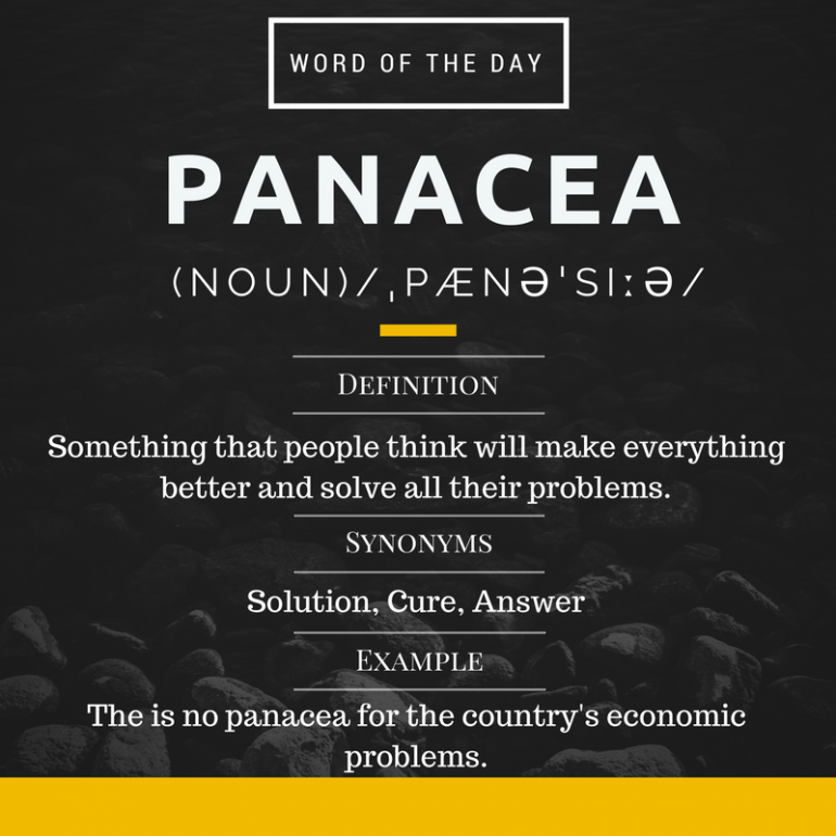 Panacea - Word Of The Day For IELTS