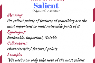 word of the day - salient