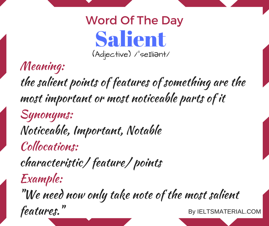 Salient – Word Of The Day For IELTS