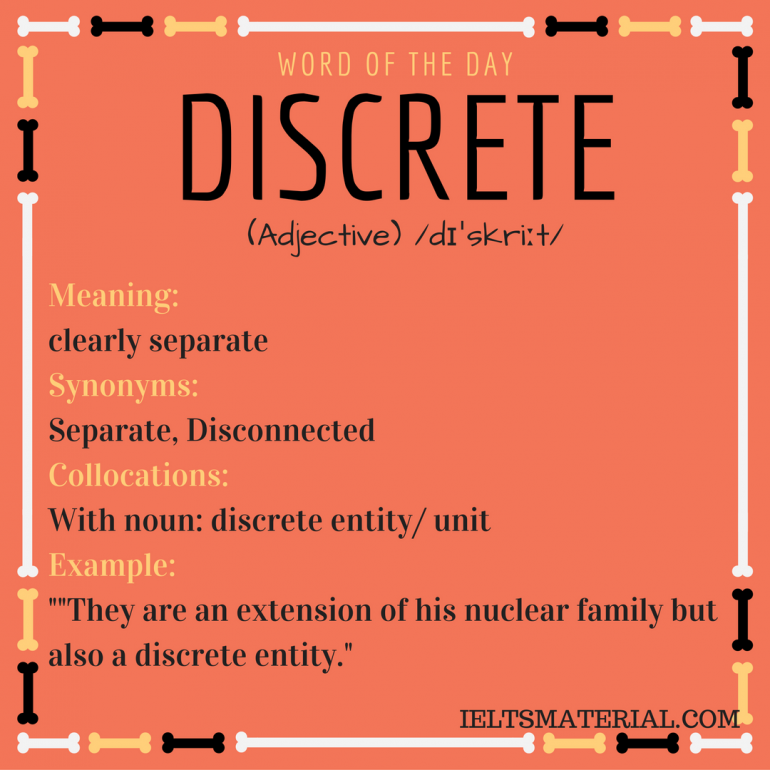 WORD OF THE DAY DISCRETE