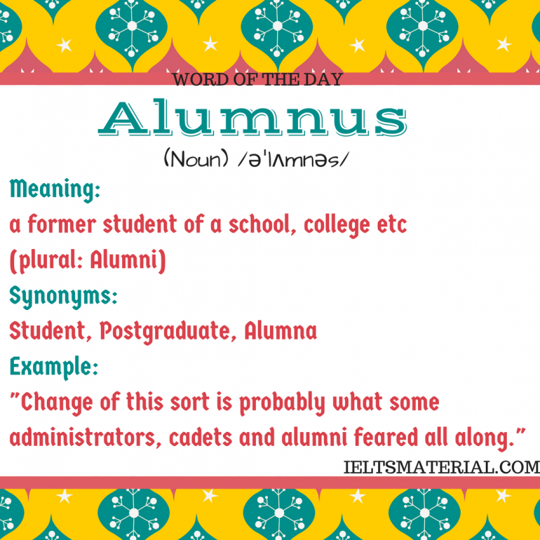 Word Of The Day Alumnus